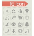 Garbage icon set vector image vector image