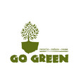 go green tree logo concept design vector image