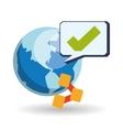 Graphic design of social media vector image