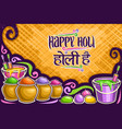 greeting card for holi festival vector image