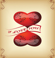 greeting card with hearts for Valentines vintage s vector image vector image