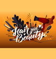 hair style colorful hairdresser decorative with vector image