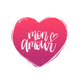 hand lettering phrase mon amour february