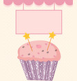 happy birthday card baner background with cak vector image vector image