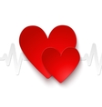 Heart rate emblem vector image