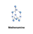 hexamethylenetetramine or methenamine vector image vector image