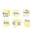 honey natural product logo set sweet summer hand vector image