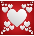 I love you White frame Valentines Day vector image vector image