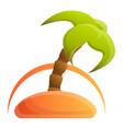 island palm tree icon cartoon style vector image