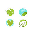 leaf logo environment ecology nature icon or vector image vector image