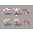 Low poly sun umbrellas vector image vector image