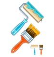 maintenance tools brushes vector image