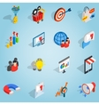 Marketing set icons isometric 3d style vector image vector image