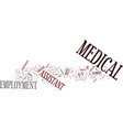 medical assistant employment text background word vector image vector image