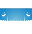 Milk flows from jug Spray drops and white wave on vector image vector image