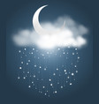 moon and meteor showers vector image vector image