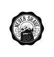 never shave vector image vector image