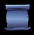 old scroll blue paper blank template for the vector image
