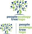 people ecology tree logo 5 vector image vector image