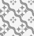 Perforated pointy four foils with waves vector image vector image