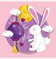 rabbit happy moon festival image vector image vector image
