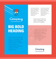 robotics business company poster template with vector image