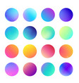 rounded holographic gradient sphere set gradient vector image vector image