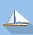 sail boat icon flat style vector image