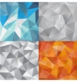 set faceted abstract crystal backgrounds vector image