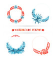 set of wedding tropical wreaths vector image