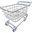 shopping cart trolley vector image vector image