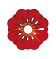 single red flower icon image vector image vector image