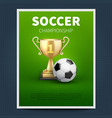 soccer or european football sports poster vector image