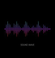 sound wave colorful sound waves for party vector image vector image