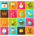 spring easter colorful icons vector image vector image