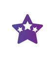 star logo template with three stars inside award vector image vector image
