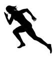 start sprint girl athlete runner vector image vector image