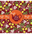 Teapot with citrus pattern vector image vector image