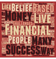 The 3 Biggest Obstacles To Financial Success text vector image vector image