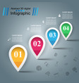 water icon business infographics vector image