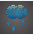 with cloud and drops vector image
