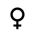Woman icon on white background vector image vector image
