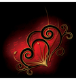 Abstract with heart Valentines day card vector image