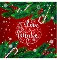 Christmas frame I love winter vector image