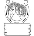 a horse and place for your text elements for vector image vector image