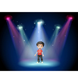 A young actor at the center of the stage vector image vector image