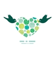 abstract green circles birds holding heart vector image vector image