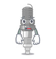 afraid spark plug isolated with the mascot vector image vector image