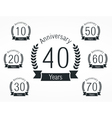Anniversary Emblems vector image vector image