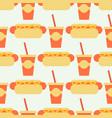 Appetizing hot dog seamless pattern background